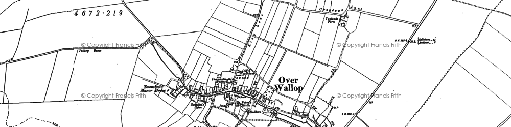 Old map of Over Wallop in 1894