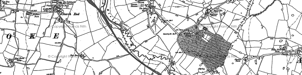 Old map of Whitacre Fields in 1886