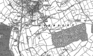 Old Map of Oversley Green, 1885
