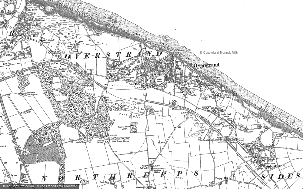 Old Map of Historic Map covering Toll's Hill in 1905