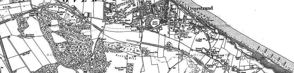 Old map of Overstrand in 1905