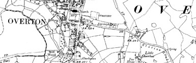Old map of Argoed centred on your home