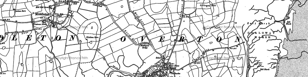 Old map of Overton in 1910