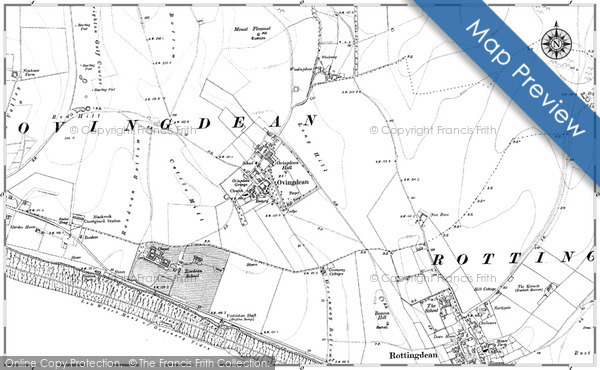 Old Map of Historic Map covering Wick Bottom in 1909