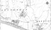 Old Map of Ovingdean, 1909