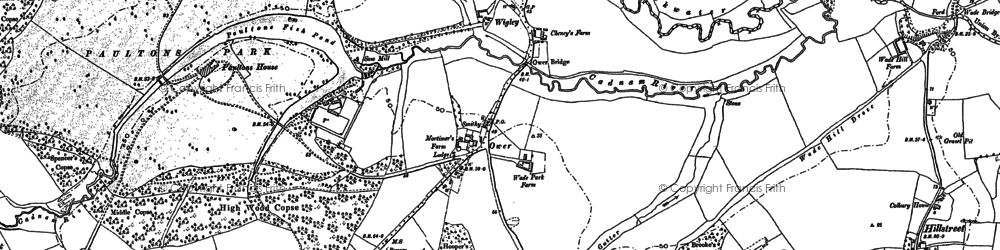 Old map of Wigley in 1895