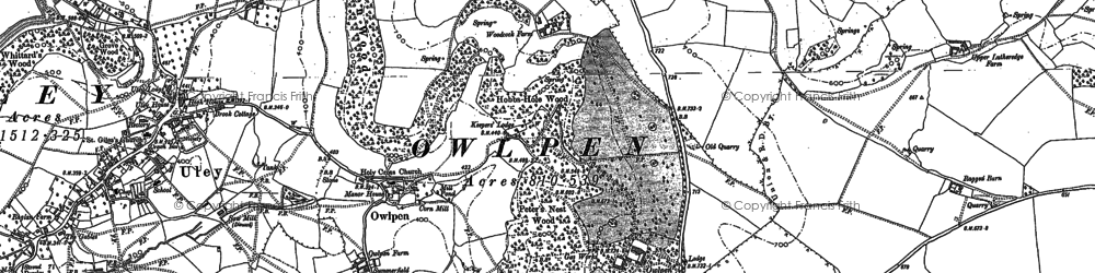 Old map of Owlpen in 1882