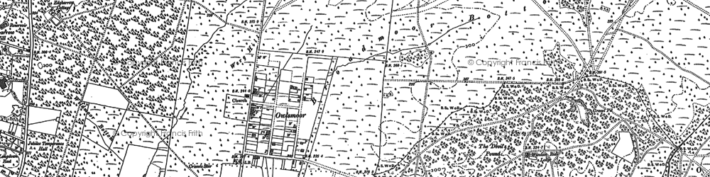 Old map of Windsor Ride in 1909