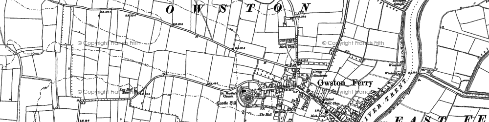 Old map of Owston Ferry in 1885