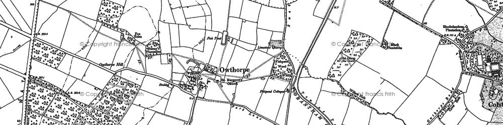 Old map of Wynnstay Wood in 1899