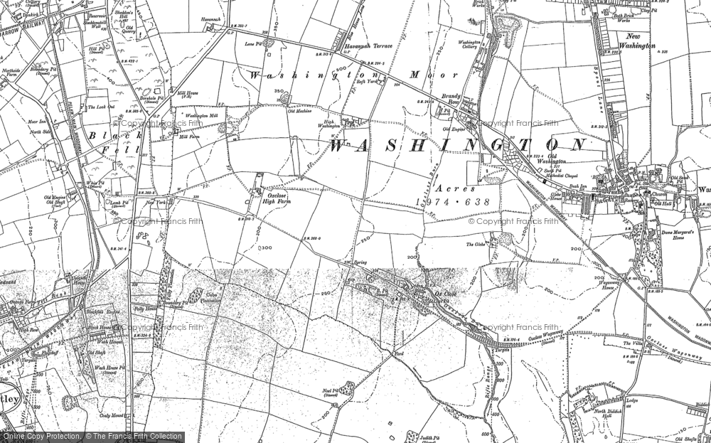 Old Map of Oxclose, 1895 in 1895
