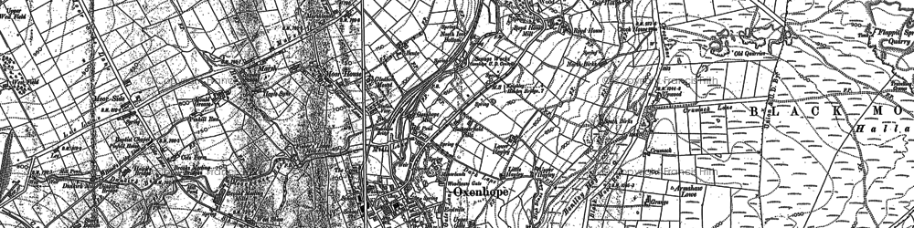 Old map of Aberdeen in 1848