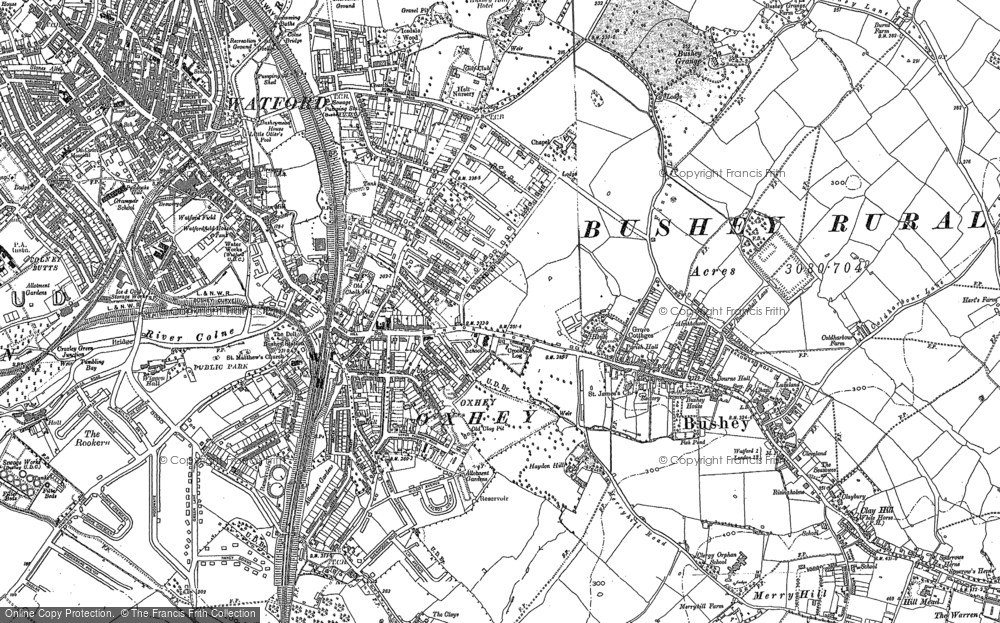 Old Map of Oxhey, 1896 - 1934 in 1896