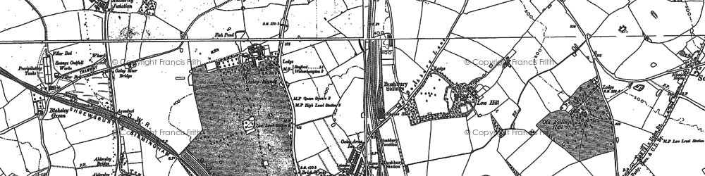 Old map of Autherley Junction in 1883