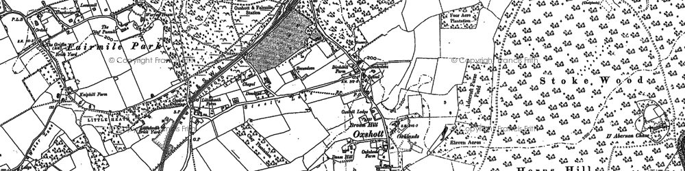 Old map of Oxshott in 1895
