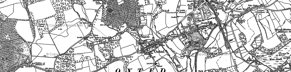 Old map of Hurst Green in 1895