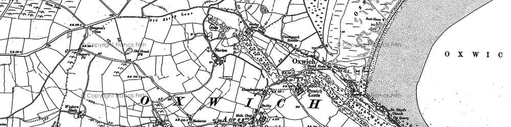 Old map of Oxwich in 1896