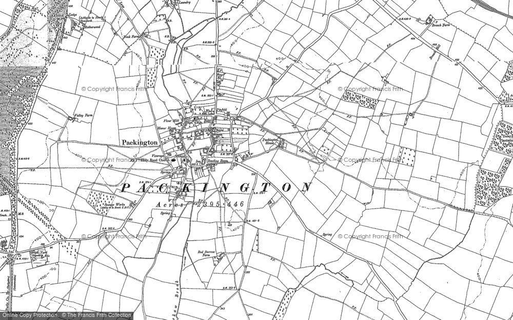 Old Map of Historic Map covering Alton Hill in 1882