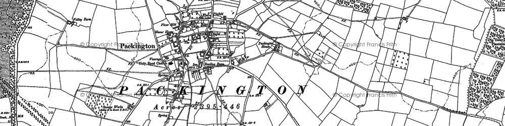 Old map of Alton Hill in 1882