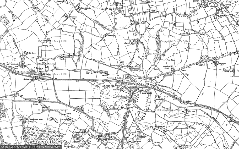 Old Map of Historic Map covering Lane End in 1898
