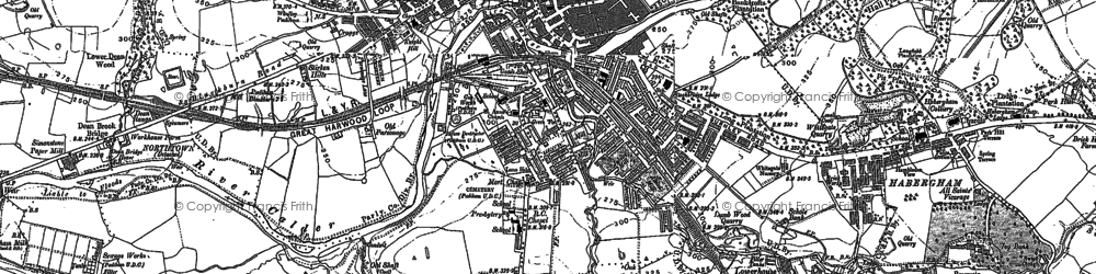 Old map of Padiham in 1891