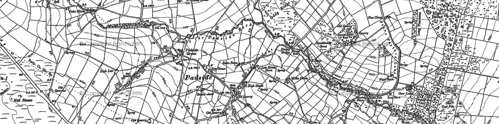Old map of Yates Ho in 1907