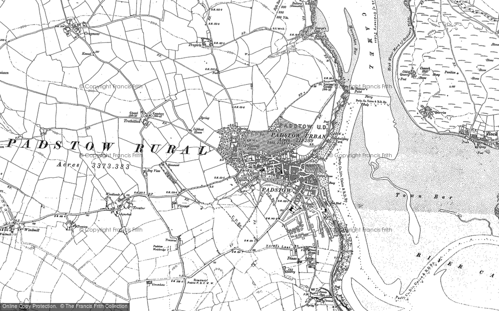 Map of Padstow, 1880 - 1905