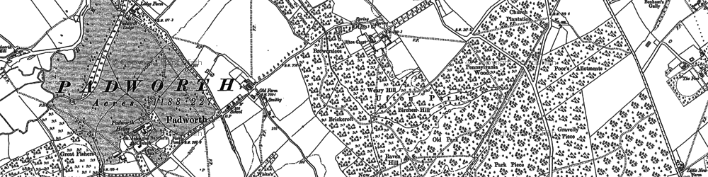 Old map of Aldermaston Wharf in 1898