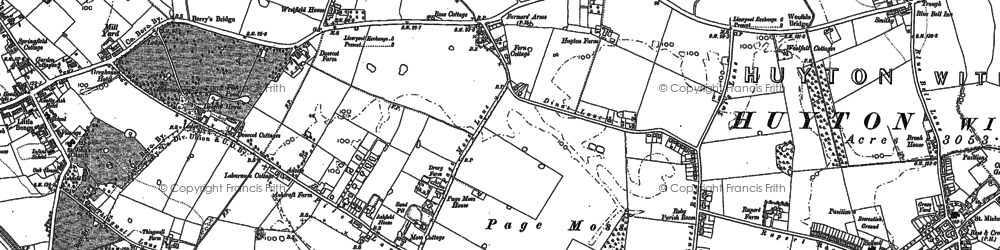 Old map of Page Moss in 1891