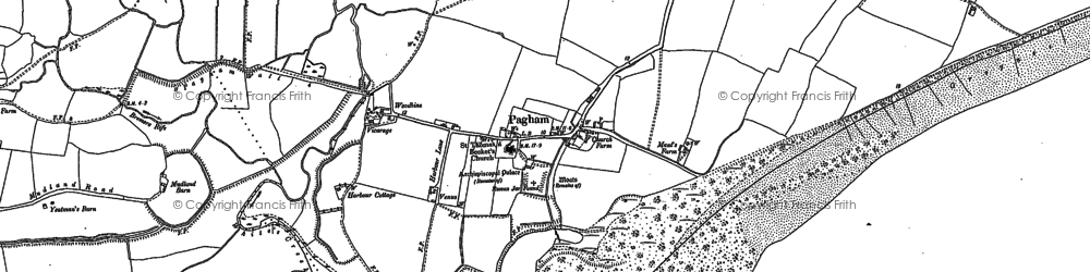 Old map of Pagham in 1909