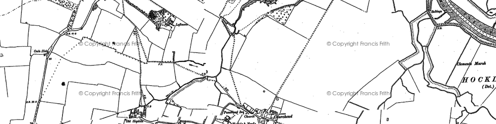 Old map of Paglesham Eastend in 1895