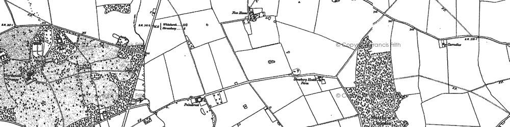 Old map of Astley Lodge in 1880