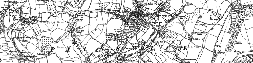 Old map of Painswick in 1882