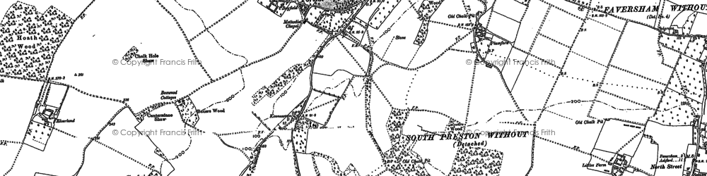 Old map of Painter's Forstal in 1896
