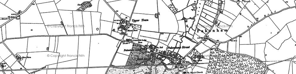 Old map of Baileypool Br in 1883