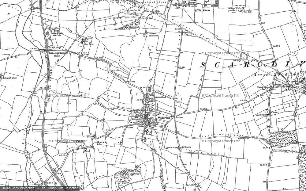 Old Map of Palterton, 1897 in 1897