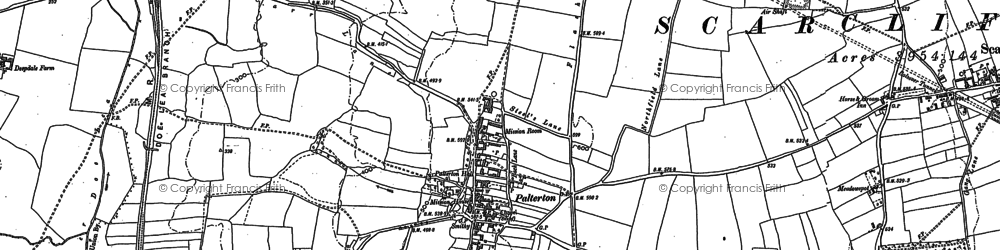Old map of Rylah in 1897
