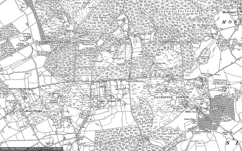 Old Map of Historic Map covering Aldermaston Soke in 1894