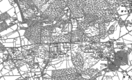 Old Map of Pamber Heath, 1894 - 1909