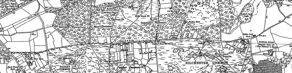 Old map of Aldermaston Soke in 1894