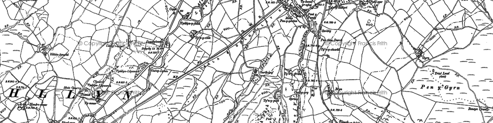 Old map of Afon Twrch in 1887