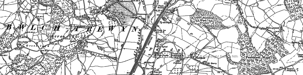 Old map of Alltyrynys in 1903