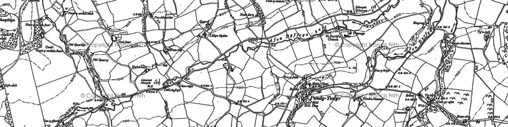 Old map of Afon Dyffryn-gall in 1899