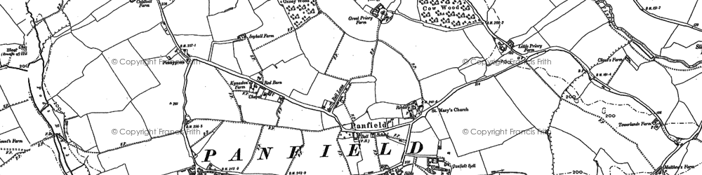 Old map of Panfield in 1886