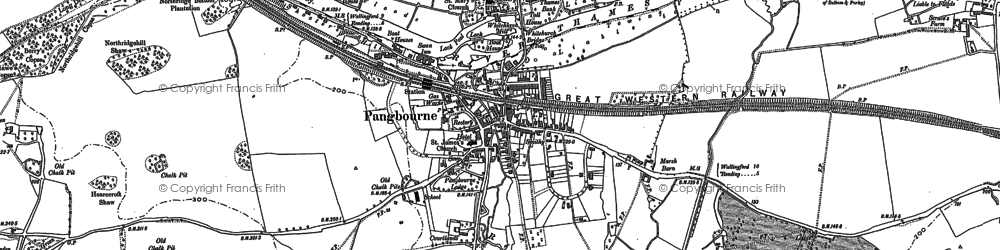 Old map of Pangbourne in 1910