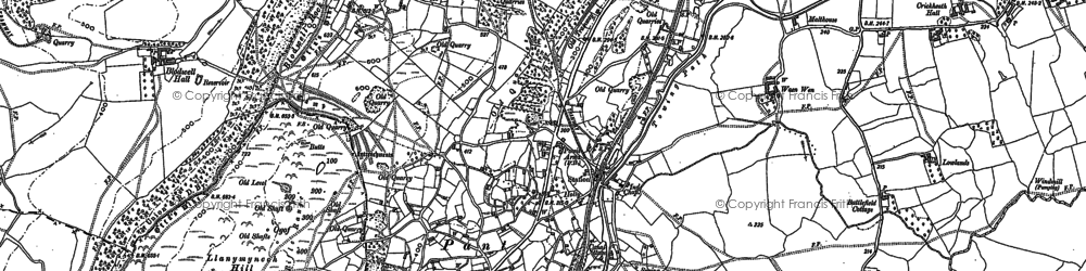 Old map of Pant in 1874