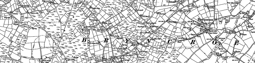 Old map of Tocia in 1888