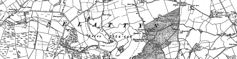 Old map of Lawr-y-pant in 1874