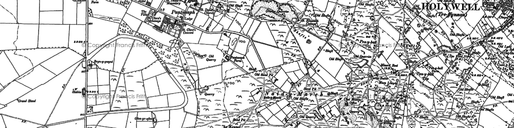 Old map of Pantasaph in 1898