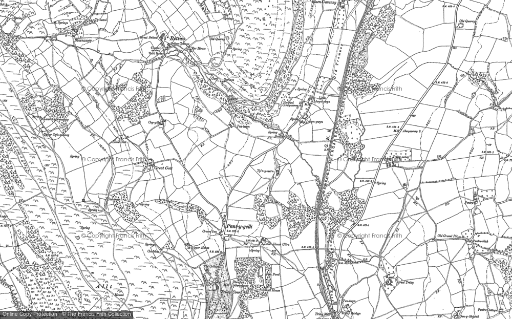Old Map of Historic Map covering Allt in 1899